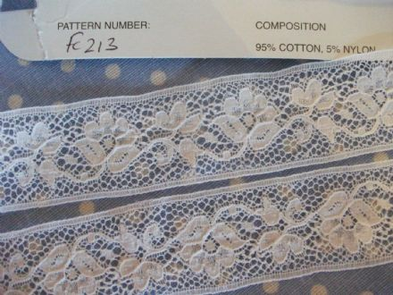 Exclusive English Nottingham Cotton Cluny Lace Vintage style-White FC213 Bridal,